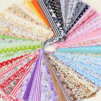 Series 7 Pieces Quilt Fabric Assorted Floral Pattern Pre-Cut Bundle Cotton