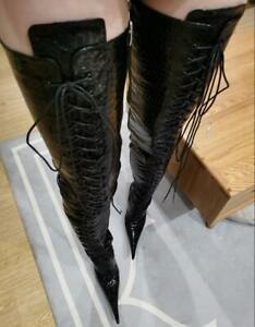 Sexy 12cm13cm14cm15cm16cm18cm20cm Heels Long Stiefel Spitz Herren Damen Schuhe