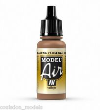 Vallejo Model Air 71.034 Sand Brown - 17ml Acrylic Airbrush Ready Paint