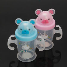 Durable Children Baby Straw Cup Drink Bottles Sippy Cups Handles Cute 200ML New