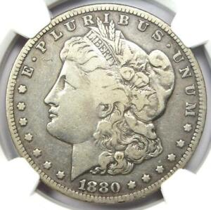 1880-CC Morgan Silver Dollar Reverse of 1878 Carson City $1 - NGC Fine Details