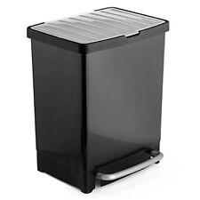 Cubo basura reciclaje Tatay negro 17L 8l
