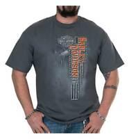Harley-Davidson Men's Flight Lines Distressed Short Sleeve T-Shirt - Charcoal