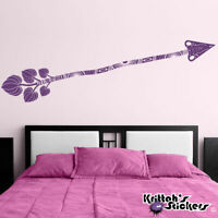 Arrow Vinyl Wall Decal room home decor native flower art design sticker K525