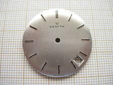 Cadran argenté 28,5 rond pour montre ZENITH  date  vintage Zifferblatt.dial 15