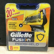 GILLETTE FUSION PROSHIELD REFILL CARTRIDGES 8 PACK - NEW