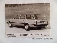 PHOTO DE PRESSE PEUGEOT 505 BREAK SR Février 1982    E101