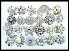 24 pc PINS Brooches Faux PEARL Bling Wedding Bouquet