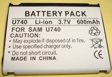NEW Cell Phone 600mAh 3.7v Battery for Verizon Samsung AB463446FZ SCH-U740 Alias