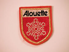 Vintage NOS Alouette Patch Rare Red Outline With Self Stick Adhesive Backing
