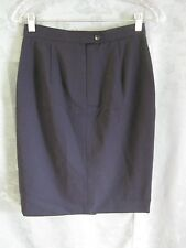 BROOKS BROTHERS Pencil Skirt Size 10 Navy Blue Wool NEW Lined