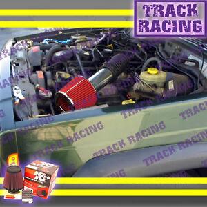 93-98 JEEP GRAND CHEROKEE LAREDO 5.2L 5.9L V8 AIR INTAKE KIT + K&N Red S