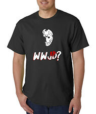 WWJD Jason Voorhees T-Shirt - Friday The 13th Halloween Freddy Leatherface Scary