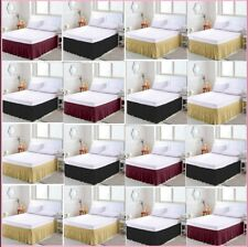 Elastic Bed Ruffles Bed Skirt Wrap Around Easy Fit Queen/King All Bed Size