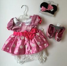 NWT Disney Store Pink Minnie Mouse Sz 3-6 Months Costume Dress Ears & Shoes