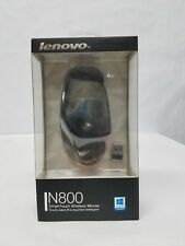 Lenovo N800 Optical Full-Size Wireless SmartTouch Ergonomic Mouse Black New