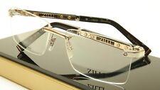 ZILLI Eyeglasses Frame Acetate Leather Titanium France Hand Made ZI 60012 C02