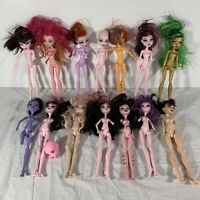 Monster High Doll Lot of 14 For OOAK Missing Limbs Arms Legs Parts See Photos
