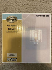 Hampton Bay Olivet Wall Sconce Chrome Finish with Cube Crystal Glass Shade
