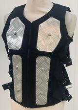 Steampunk Sdl Men's Black Heavy bodice waistcoat with MetaL Size L Chest 44