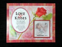 Love And Kisses Flower Photo Mount Print Gift With A Beautiful I Love You Verse