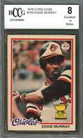 1978 o-pee-chee #154 EDDIE MURRAY baltimore orioles rookie card BGS BCCG 8