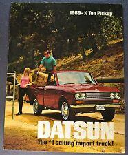 1969 Datsun Pickup Sales Brochure Folder Excellent Original 69