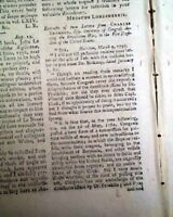 JAY TREATY RATIFICATION Benjamin Franklin & Captain James Cook 1795 Old Magazine