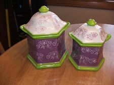 Temp-tations Floral Lace Kitchen Canister Set with Gaskets