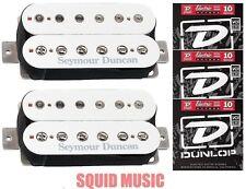 Seymour Duncan SH-4 JB & SH-2 Jazz Hot Rodded Humbucker White Set  3 STRING SETS