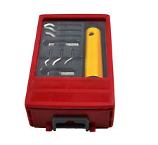 10 pc Deburring Tool Set,Quick Release Swivel Head,6 Shape Replacement Blades.