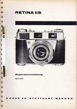 Kodak Reparaturanleitung für Retina II S - Original Ausgabe