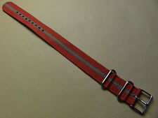 New Easy Pass Thru Timex Camper ONE PIECE T2N653 20mm Watch Band Red with Gray