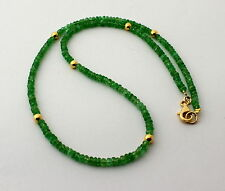 Tsavorite Necklace Precious Stone Chain Green Garnet Noble
