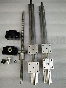SBR16--400mm Liner rail RM1605-366mm Ballscrew &BF12/BK12 &6.35*10mm Coupling