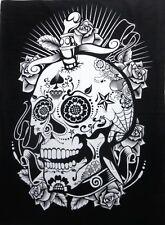 Art Skull Tapestry Sugar Black Wall Hanging Throw Home Decorative Poster Mandala