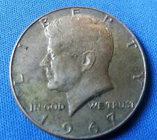 USA AMERICAN HALF DOLLAR FIFTY CENT PIECE COIN 1967 SILVER JOHN F KENNEDY USA
