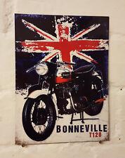 triumph Motorcycle Bonneville Retro metal Aluminium Sign vintage t120