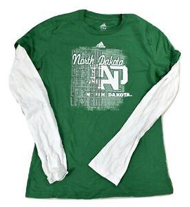adidas Youth Girls North Dakota Fighting Hawks Lets Go! Shirt New S, M, L