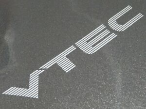 VTEC Sticker/Decal for the Rear Centre Section Civic/ CRX FREE P&P