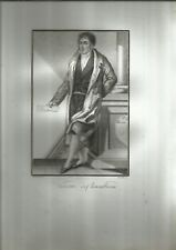 INCISIONE ORIGINALE RAME A POINTILLE'_DEMARCHI, TODESCHINI _ CHATEAUBRIAND _1818