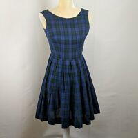 Vintage handmade blue plaid dress