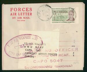 Mayfairstamps Canada Forces Air Letter Air Weapons Unit Cover wwp_66151