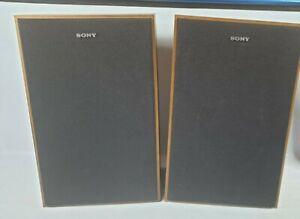 """Vintage Sony SS-1030 Bookshelf Speakers 30W 8Ohms Walnut. 16"""""""