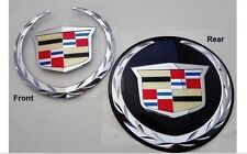 Cadillac ESCALADE 2007 TO 2014 FRONT & REAR Emblems !  WITHOUT GRILLE PLATE !