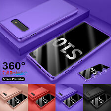 For Samsung Galaxy S10 +/ S10 E 360° Shockproof Case Cover + Tempered Glass