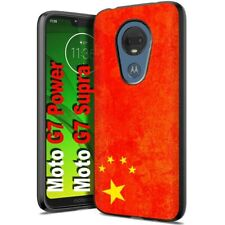 Thin Gel Phone Case Motorola moto g7 power,Oldflag China Red Five Star Print