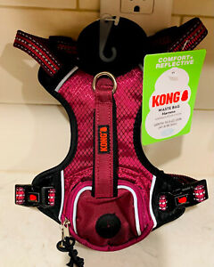 KONG COMFORT+ REFLECTIVE Pocket DOG HARNESS Purple PinkSMALL
