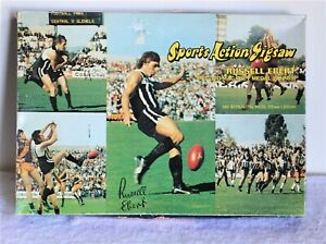 Vintage Sports Action Jigsaw Puzzle SANFL Russell Ebert Port Adelaide Magpies