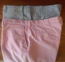 """Polo Ralph Lauren Shorts Mens 40"""" Waist - 21"""" Length Lot of 2 Pink & Seersucker"""